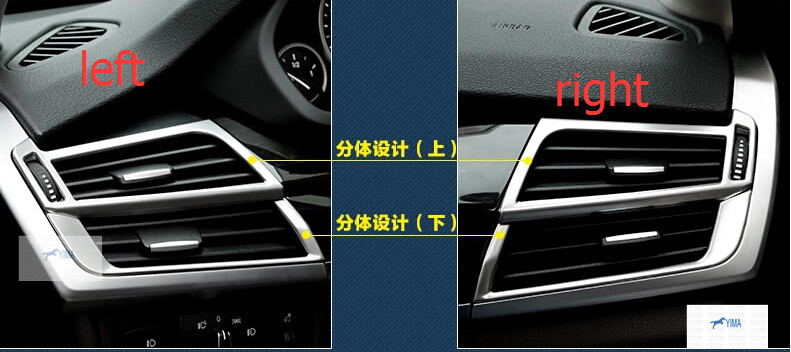For BMW X5 F15 2014 Stainless Steel Air Conditioning Vent Decorative Frame Cover Trims 4 pcs / set Interior Mouldings!<br><br>Aliexpress