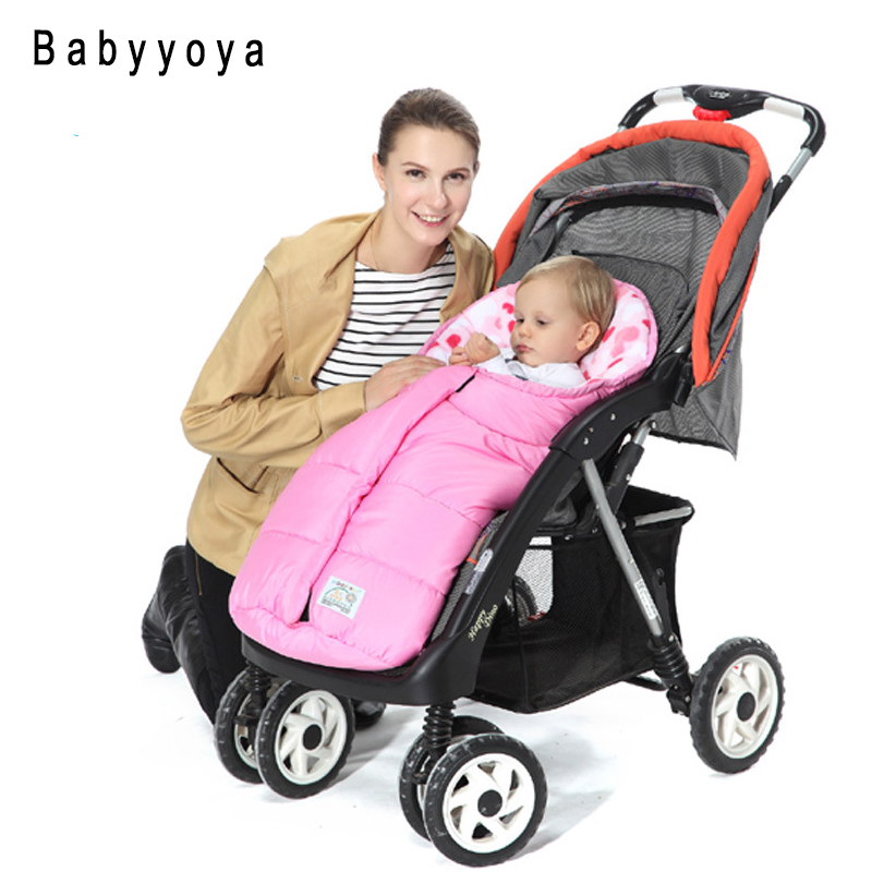 Baby Stroller Sleeping Bag Bear cushion 0-6M Kids winter Newborn Warm Envelope Sleep sacks Footmuff Pram carriage wheelchair