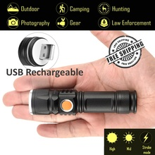 Explorer-BI USB Rechargeable Flashlight 3800Lm CREE T6 XML, 3 Modes Tactical Flashlight, Mini Flashlight, Torch light, Camping
