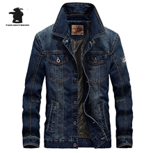 Free Shipping Brand men's Denim Jacket Fashion Retro High Qualtiy Plus Size Casual Denim Jacket Coat For M~4XL D16E66008A