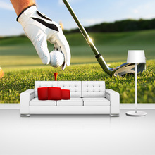 Custom home decor golf sports photo papel de parede wall paper moderno wallpaper murals for boys kids room bedroom walls decal