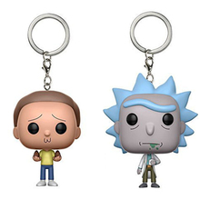 NEW Funny Action Figurer Rick and Morty Delicate Key ring Collectible Model Big Bobble Head Q Edition Interesting(China)