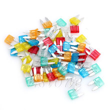60Pcs Auto Car Truck ATC Fuse 5A 10A 15A 20A 25 30A AMP Mini Blade Mixed Set Kit H02
