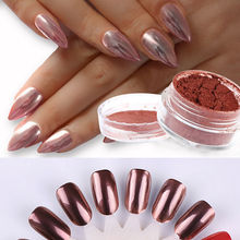 2g/Box Rose Gold Nail Glitter Mirror Powder Dust Shinning Shine Chrome Pigment DIY Manicure Art Decoration Tool Hot 2017