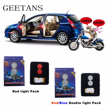 2pcs Anti Collision LED wireless Magnetic sensor door open signal warning light flashing light Red Blue logo projection light AE