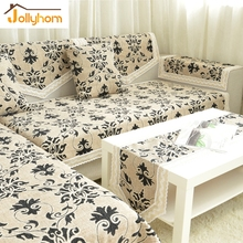 European Jacquard 1/2/3/4 Seater Sofa Towel Cotton Linen L-shaped Slipcovers Cozy Chaise Cover Home Decor Accept Custom (1pc)