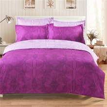 Rose AB section of soft 3PCS 3D Bedding Set Quilt Duvet Cover set Bed Cover Pillowcase Single Russia Double Twin Queen King soft