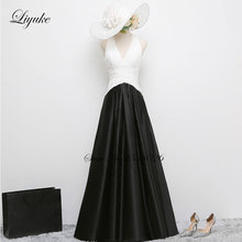 Liyuke Backless Elegant Deep V-Neckline Floor-length A-Line Mother of the Bride Dresses With Pleat Patterns(China)