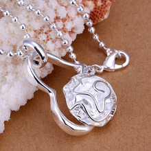 Free Shipping New 2015 silver-plated pendants Rose Heart colar feminino Costume Jewellery
