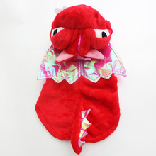 Cute Red Flying Dragon Design Pet Dog Coat Hoody Jacket Pet Puppy Warm Clothes