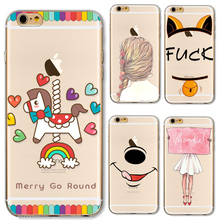 TPU Case Cover For Apple iPhone 4 4S 5 5S SE 5C 6 6S 6Plus 6S+ Cases  Merry Go Round Korean Fancy Hair Patterns Beautiful Nice