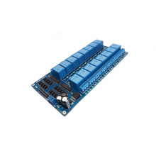 1PCS TZT teng 1PCS  12V 16 Channel Relay Module for arduino ARM PIC AVR DSP Electronic Relay Plate Belt optocoupler isolation