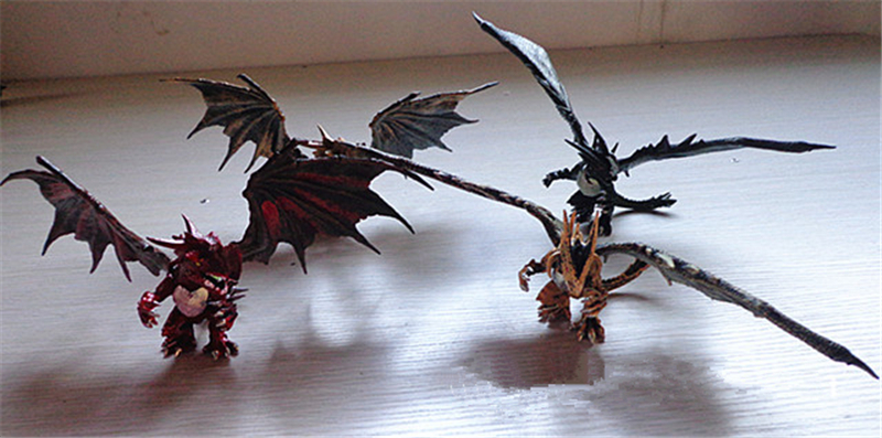 1PCS Random DIY Assembling Dragons with Wings Dinosaur Action Figures Classic Toys Educational Toy for Children Baby Gifts(China)