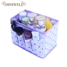 DINIWELL Home  Foldable  Make Up Organizer Cosmetic Makeup Storage Box  Desktop Pen  joyero escritorio organizador de maquillaje