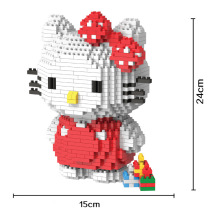 Bevle HC 9025 1309Pcs Hello Kitty Japanese anime Cartoon DIY Magic Blocks Diamond Building Block Toys Compatible with Lepin