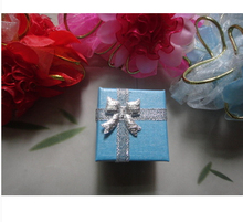 Free Shipping Wholesale 96pcs/lot Blue Jewelry Sets Display Box Necklace Earrings Ring Box 4*4cm Packaging Gift Box