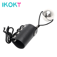 IKOKY Extender with Heavy Metal Ball Sex Toys for Men Male Penis Enlarger Stretcher Penis Growth by Weight Cock Ring Exercise
