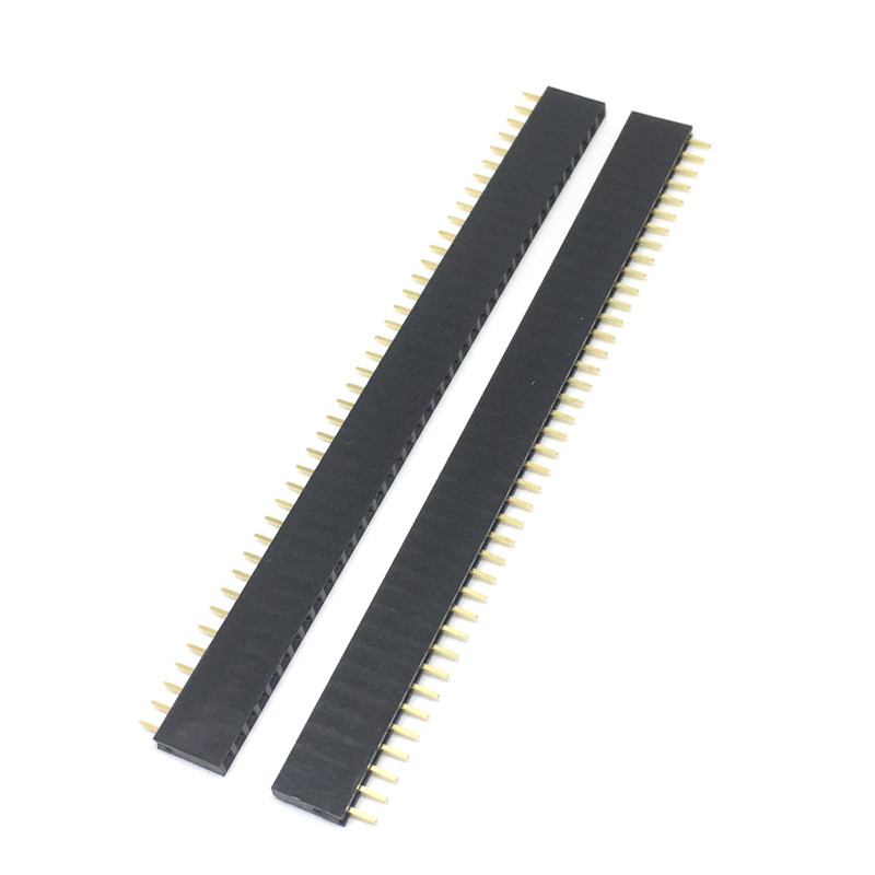 1X40 PIN Single Row Straight FEMALE PIN HEADER 2.54MM PITCH Strip Connector Socket 140 40p 40PIN 40 PIN FOR PCB arduino  1