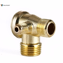 3 Port Check Valve Brass Male Thread Check Valve Connector Tool For Air Compressor