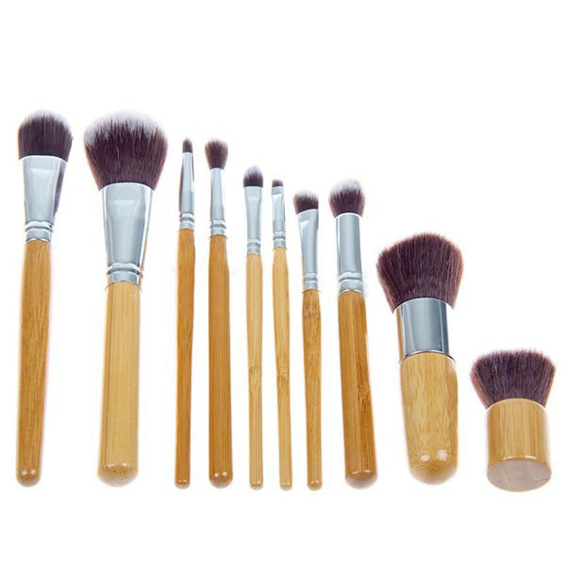 10pcs Cosmetics Kit Beauty Make Up Set Powder Brushes Wood Handle Multi-Function Blush Foundation Brush For Women Makeup Brushes<br>