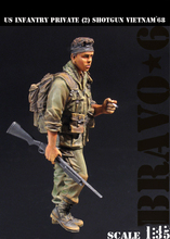 New Unassembled 1/ 35 WWII U.S. Infantry Private with gun Vietnam soldier   Figure Resin Kit DIY Toys Unpainted kits