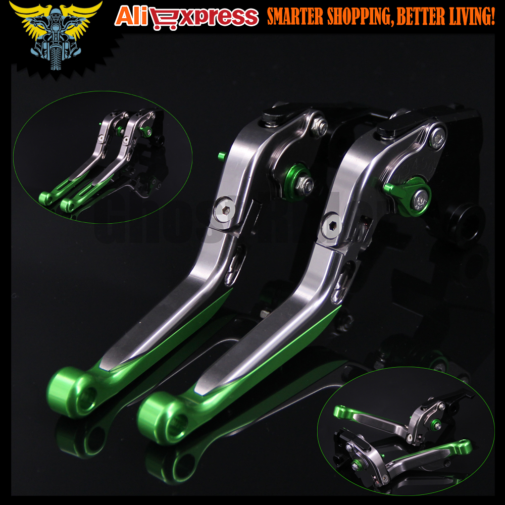 Green+Titanium 8 Colors CNC Motorcycle Brake Clutch Levers For Kawasaki Z1000 2007 2008 2009 2010 2011 2012 2013 2014 2015 2016<br>