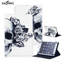 Universal 7 inch Tablet Case For Samsung Tab For Lenovo For Kindle Fire 7 inch PC PU Leather Stand Cover Case Print Pattern Skin