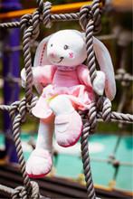 HOT 30cm Baby Rattles Mobiles Rabbit Cute ring bell Infant Baby Crib Stroller Toy 0+ months Plush Rabbit kids Bed Soft Play Doll(China)