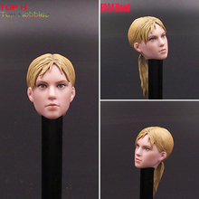 Custom 1/6 Scale resident Evil Gill Doll Yellow Hair Head F004 Carving Sculpt For 12 Inch HT Phicen Body Action Figure(China)