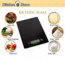 Touch Button LED 5000g/1g Kitchen Portable Digital Electronic Scales Food Parcel Weighing Balance Scale 23*16cm KK088(China)