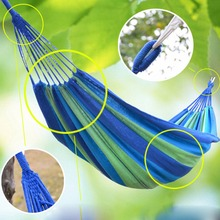 Camping Hanging Hammock Canvas Bed Portable Hammock Cotton Rope Outdoor Swing Fabric()