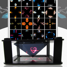Hologram 3D Showcase Holographic Frame Pyramid By Cellphone Smartphone 3D Dispaly Box Holographic Display(China)