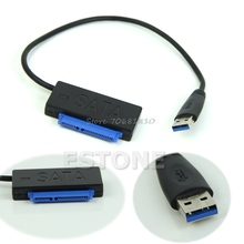 USB 3.0 to Sata Cable 22 Pin 7+15pin HDD Hard Disk Driver Adapter Converter -R179 Drop Shipping