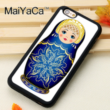 russian matryoshka doll Pattern Soft Rubber Phone Cases OEM For iPhone 6 6S Plus 7 7 Plus 5 5S 5C SE 4 4S Cover Bags Skin Shell