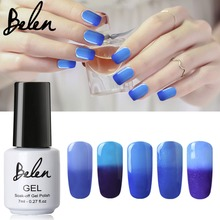 Belen 20pcs Chameleon Changing Temperature Change Color UV Gel Polish Color Change Difference Between Hot And Cold Gel UV(China)
