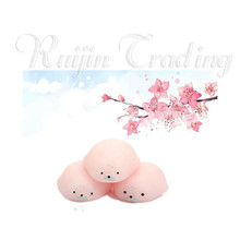 New Sakura Pink Seal Mochi Squishy Cute Squishy Slow Rising Phone Straps Soft Doll Squeeze Kawaii Pendant Bread Cake Kids Toy