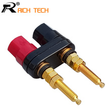Extended Speaker banana plugs BINDING POST terminals connector banana socket Dual Female Banana Plug for Speaker Amplifier 1pc