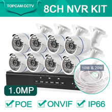 8CH CCTV 720P IP Camera Network CCTV Security System Kit 8 Channel 720P CCTV NVR System POE NVR Kit Home Video Surveillance