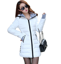 Wadded Jackets 2017 Female New Women's Winter Down Jacket Cotton Slim Women Down Parka Ladies Coat plus size M-XXXL CC276