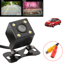 Universal Waterproof Rear View Camera 170 Wide Angle Car Back Reverse Camera 4 LED Light Night Vision Parking Assistance Camera(China)