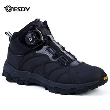 ESDY outdoor hiking shoes antiskid tactical desert boots Quick boots automatic frenulum trail shoes men Sports Shoes