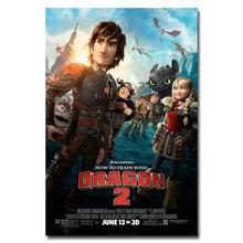 NICOLESHENTING How To Train Your Dragon 2 Movie Art Silk Poster 12x18 32x48 Hiccup Toothless Pictures Bedroom Living Room  011