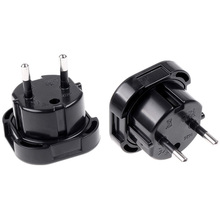 1PC UK TO EU EUROPE EUROPEAN UNiVERSAL TRAVEL CHARGER ADAPTER PLUG CONVERTER 2 PiN Wall Plug Socket