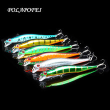 POLAPOFEI 6pcs Wobbler Fishing Lure Minnow Pesca Carp Artificial Fishing Bait Crankbait Peche Pepps Vissen Yo Zuri Kosadaka C169(China)