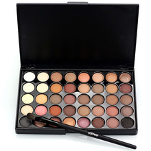 40 Colors Pigments Matte Eyes Shadow Makeup Sets With Brushes Waterproof Smoky Eyeshadow Glitter Palette Nude Makeup(China)