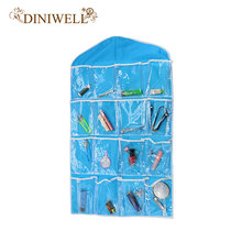 DINIWELL Clear 16 Pockets Socks Shoe Toy Underwear Slippers Jewelry Sorting Storage Bag Door Wall Hanging Closet Organizer(China)