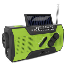 Solar Power Crank NOAA Weather Radio For Emergency, with 2000mAh Power Bank,  Torch Flashlight & Reading Lamp & SOS Aiarm Light