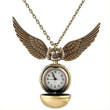 Cindiry Brand For Harry Potter Golden Snitch Watch Pocket Watch Necklace Steampunk Quidditch Pocket Clock P35