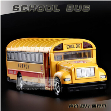 School bus Alloy car models 1/32 pull back sound light yellow 89770 student metal diecast Christmas gift boy free shipping