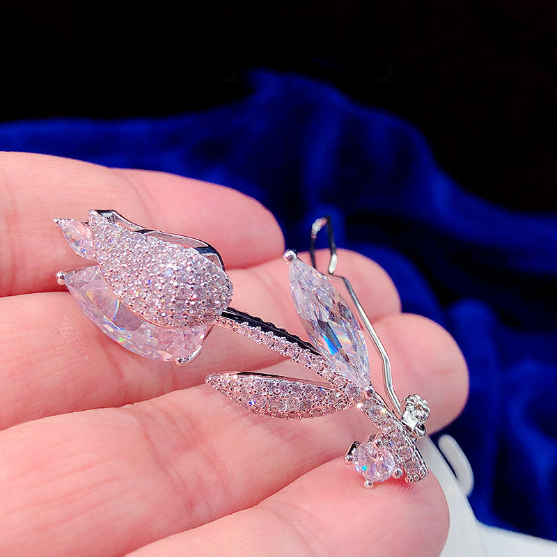 Zircon hairpin clip girl bangs clip-encrusted word clip hair accessories headdress gift